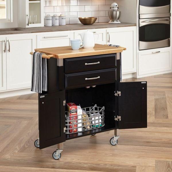 Unbranded Saint Pierre Black Baker S Rack Ka0763 The Home Depot White Kitchen Cart Kitchen Cart Wooden Kitchen