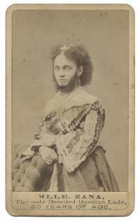 Mlle. Zana, The Only Bearded Russian Lady. Carte de Visite (CDV).