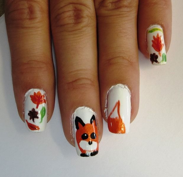 12 best Thanksgiving and Fall Nail Art images on Pinterest | Autumn ...