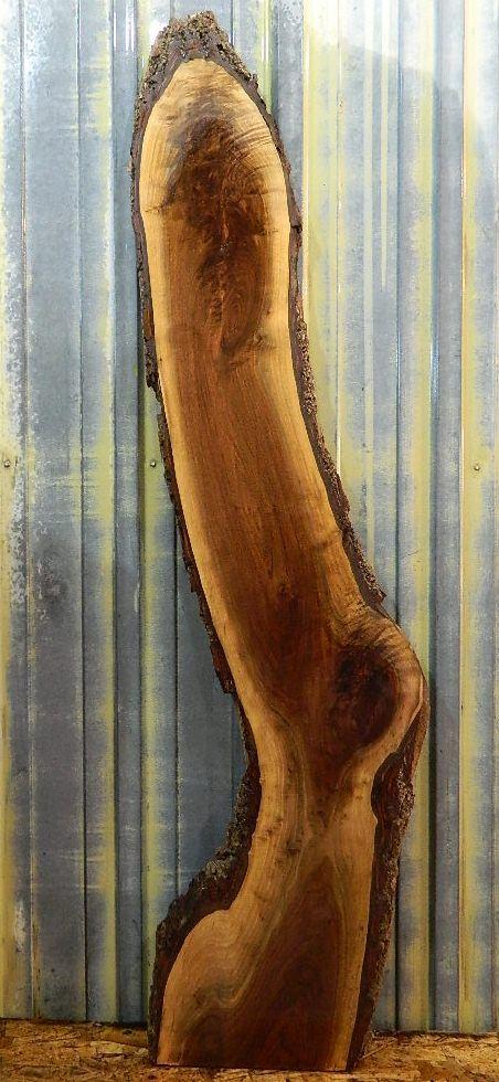 Figured Black Walnut Live Edge Lumber Slab/Curvy/Free Form Wood Bench Top 833 | Live Edge Slabs | Figured Black Walnut Lumber, Live Edge Fur...