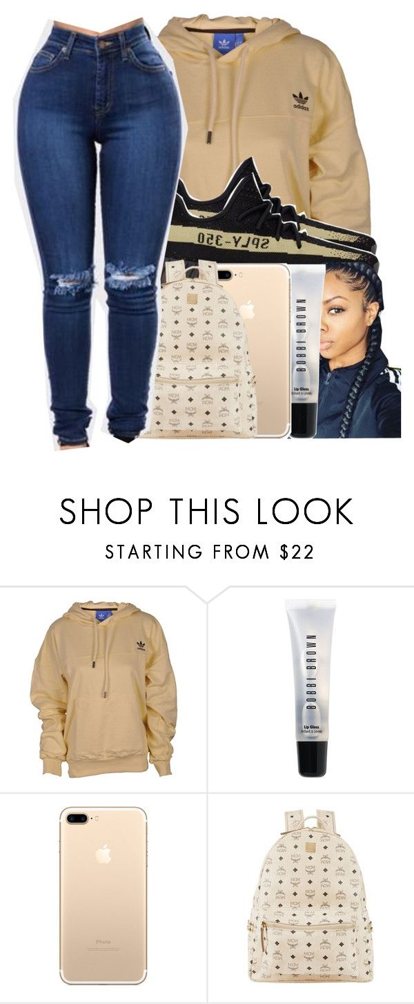 """this is okay i guess "" by glowithbria ❤ liked on Polyvore featuring adidas, Bobbi Brown Cosmetics and MCM"