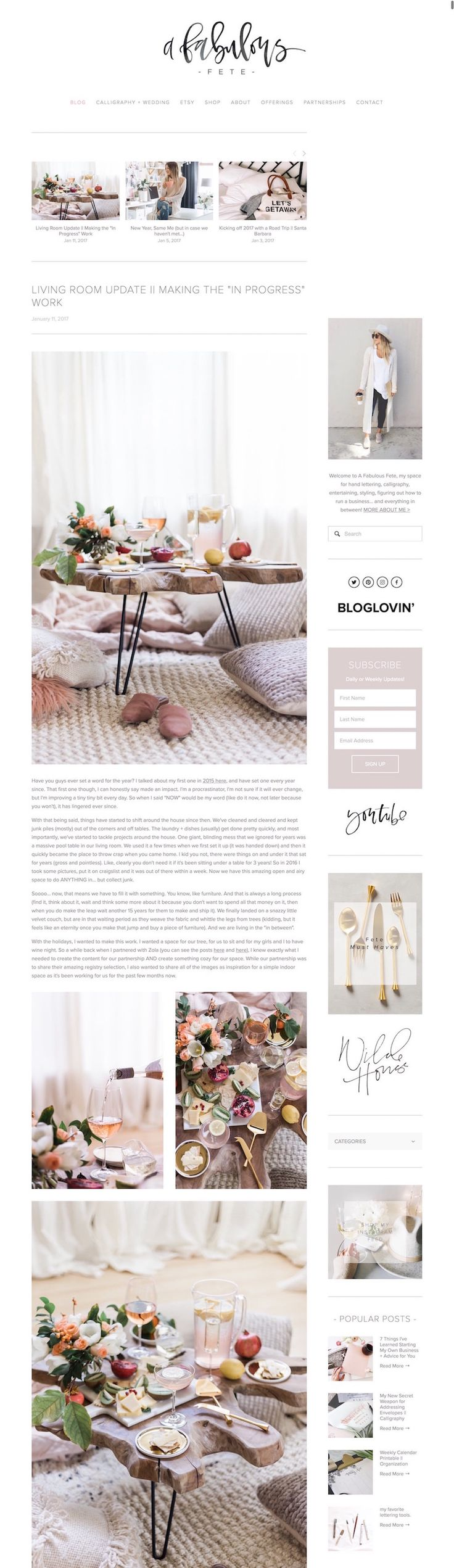 10 Squarespace example websites for inspiration • blogger edition — The Paige Studio • Squarespace Website Designer