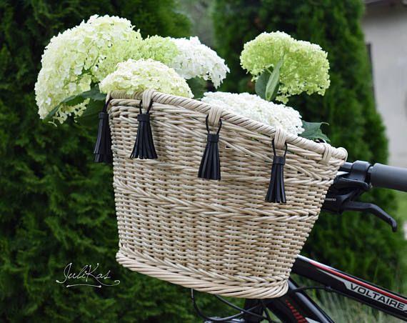 Bicycle basket Bike basket with Bicycle accessories  Boho