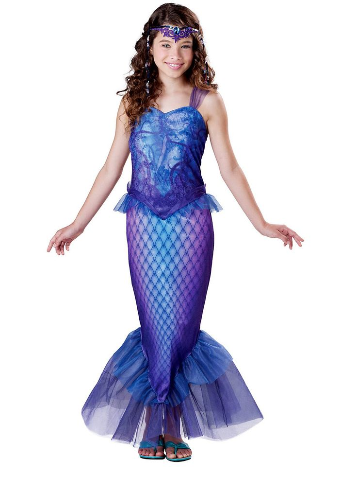 Girl's Mysterious Mermaid Costume! See more #costume ideas for Halloween and more at CostumeSuperCenter.com
