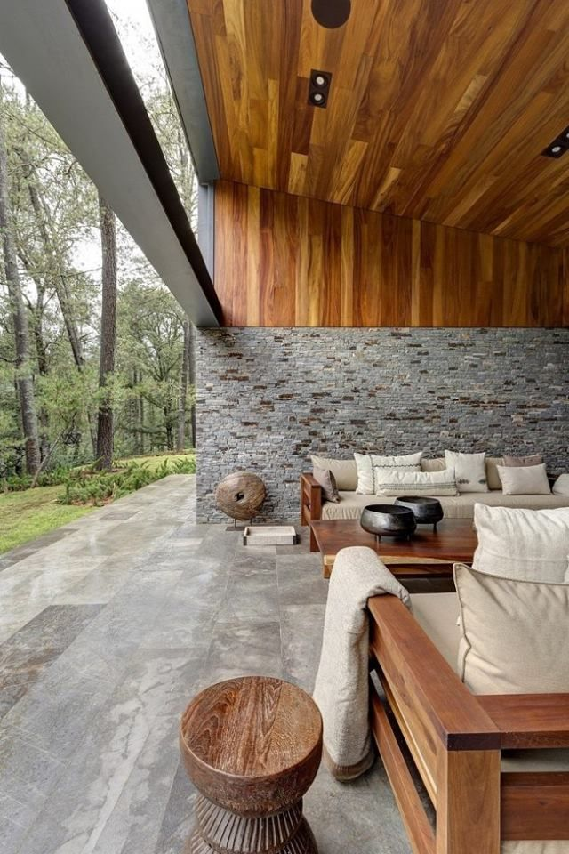 Mexican Modern Interior Living Space.