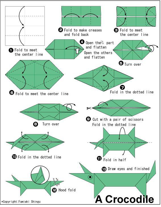 Origami Crocodile Origami Crafts Origami 2d Paper Crafts Origami