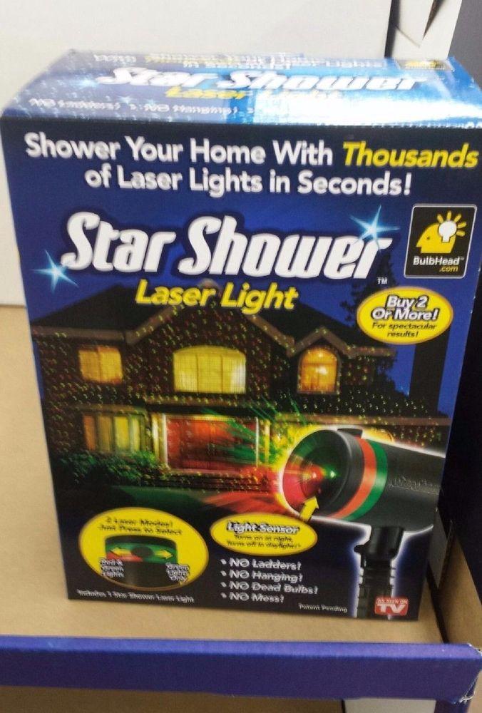 Star Shower Laser Light Garden Christmas XMAS Indoor Outdoor Yard Show Projector #StarShower