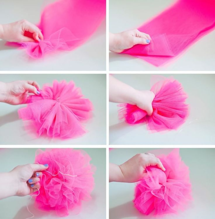 Hugedomains Com Tulle Crafts Tulle Poms Fabric Flowers Diy