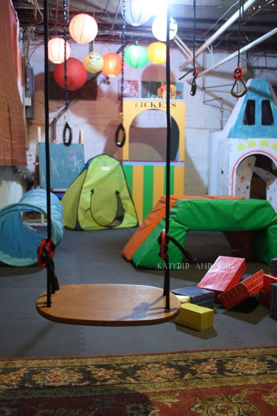 Katydid and Kid: Winter Boredom Buster: Unfinished Basement Playroom