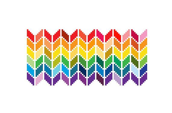 Chevron Cross Stitch Pattern