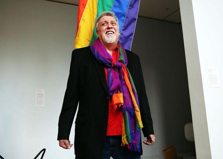 Indicador del arco iris creador Gilbert Baker.