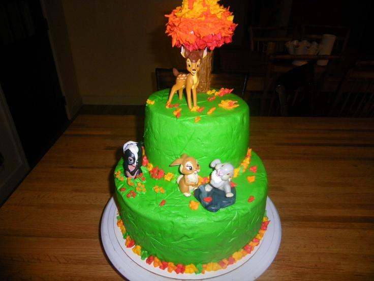 Bambi, fall birthday cake