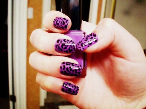 Nails Nails Nails Nails: Cheetahs Nails, Nails Art, Purple Nails, Animal Prints, Leopards Nails, Animales Prints, Art Nails, Cheetahs Prints, Leopards Prints Nails
