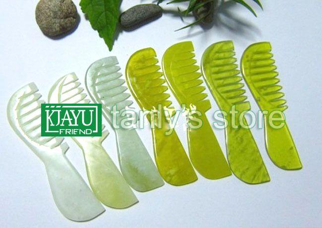 Высокое - прозрачность первозданной красоте нефрита гребень природного 100% случайно цвет высокое качество