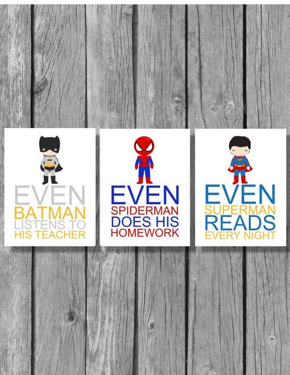 Superhero wall art, classroom artwork, superhero teacher ...