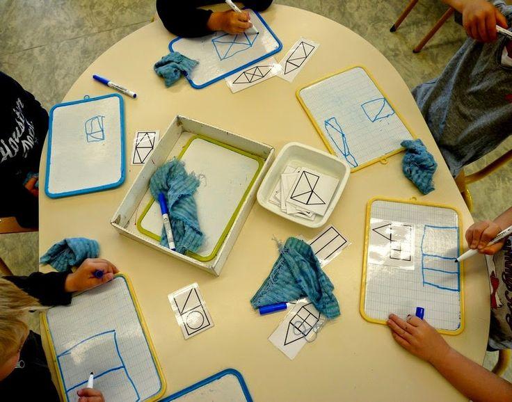 Dans ma classe j'ai différents jeux qui permettent de travailler avec et autour des formes géométriques (les blocs logiques dont je fais pe...