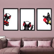 Funny Dog Canvas Painting Wall Art Animals Poster and Print Cartoon Pictures Decoration for Kids Bedroom Home Decor ** Click the VISIT button for detailed description on  AliExpress.com #HomeDecor