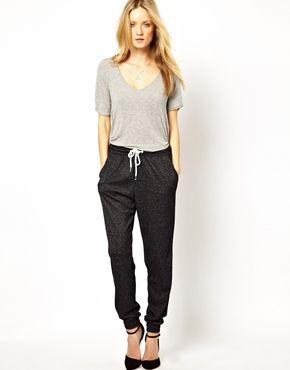 Image 1 - Selected - Lega - Pantalon de survêtement en tissu dévoré