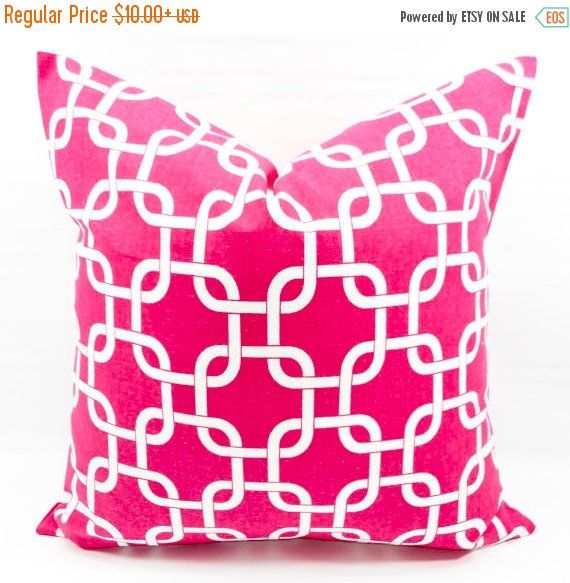 SALE Candy Pink Pillow cover. Chainlink Gotcha. Pink  Pillow