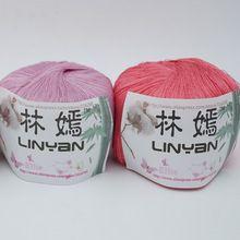 3 шары * 100 г Льда шелк вышивка нитью Лето крючком Yamamai шелковой пряжи для вязания нить Хлопчатобумажной пряжи для вязание крючком zl5495(China (Mainland))