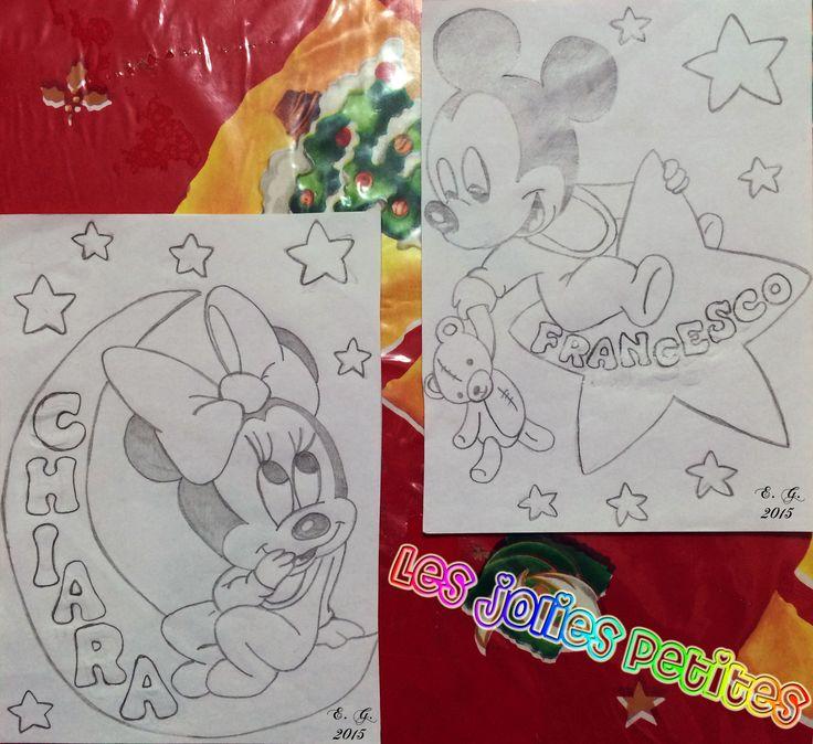 #Minnie #Topolino #Chiara #Francesco #disegno #drawing #MickeyMouse #baby #bebe #matita #staedtler #fabriano #lesjoliespetites
