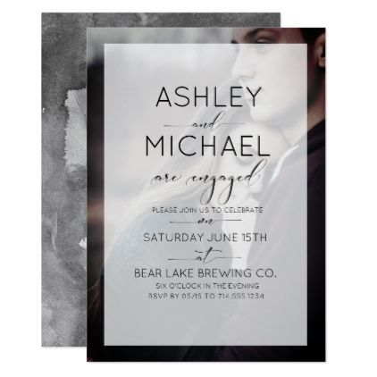 Typography Photo Engagement Party Invitation - engagement gifts ideas diy special unique personalize