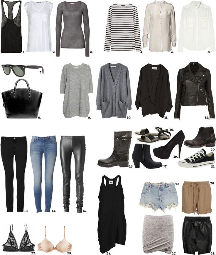 Basic wardrobe. I need to update my basics, actually I need to update my entire wardrobe :/