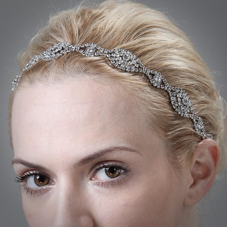 Wedding Hairstyles Drawing: Bridal Hair Accessories, Swarovski Crystal Headband