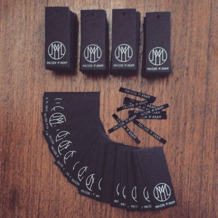 Clothing tags and labels of contemporary fashion brand Maison M'anam