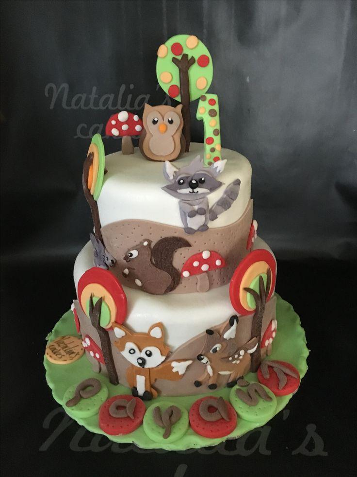 Forest animals cake!