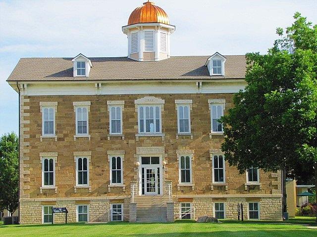 Tauy Jones Hall  -  The oldest building on the campus at Ottawa University, Ottawa,  Kansas