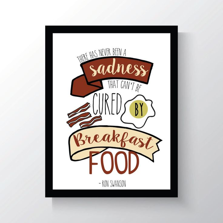 Ron Swanson Breakfast - Parks And Recreation - Leslie Knope Quote - Cheap Home Decor - 8x10 photo print - Kitchen Wall Decor - by PaperLoveSong on Etsy https://www.etsy.com/listing/243236073/ron-swanson-breakfast-parks-and
