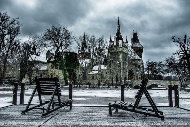 Budapesti városliget hóban