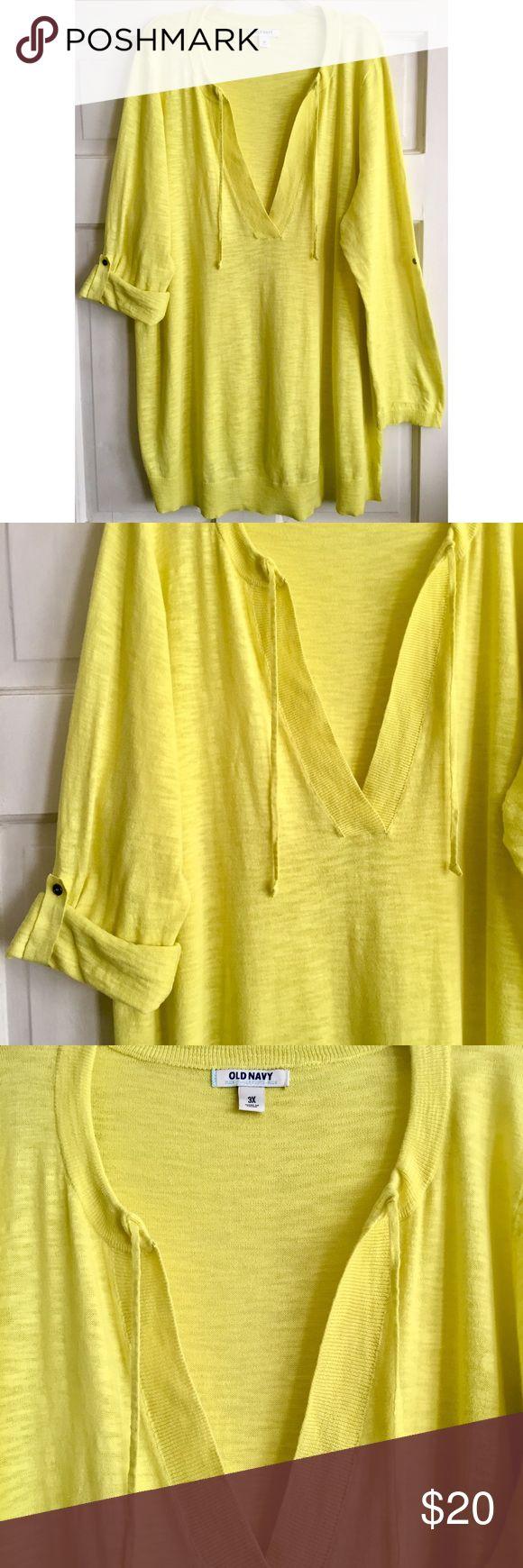 Yellow Tunic Sweater | Tunic sweater, Fabric tags and Hemline