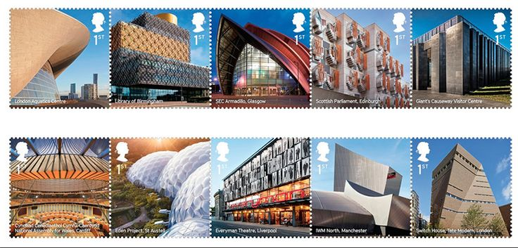 Royal Mail celebrates contemporary architecture with stamps