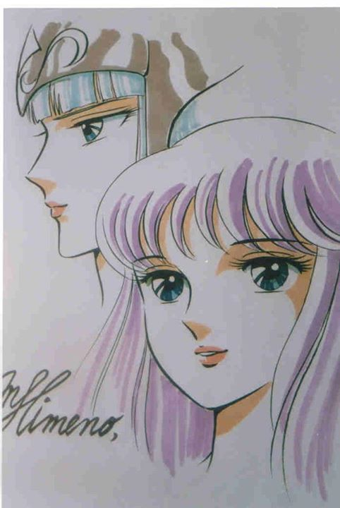 姫野美智 Polaris Hilda and Athena by Michi Himeno あ〜プレゼント用に描かされたやつ…顔2つてめんどくさっ!