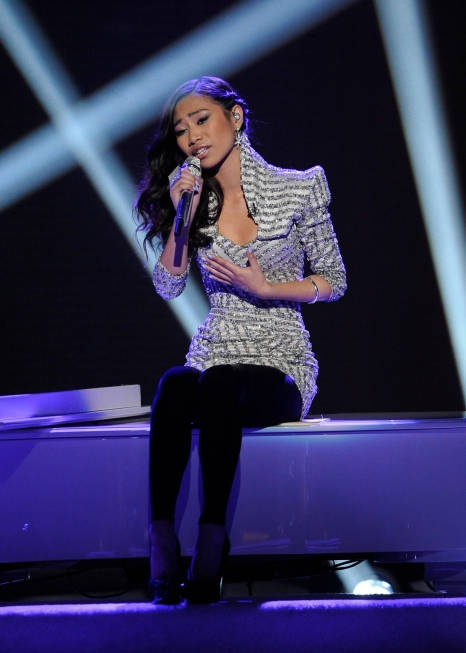 i really liked Jessica Sanchez's dress this week, i wonder who the designer is
