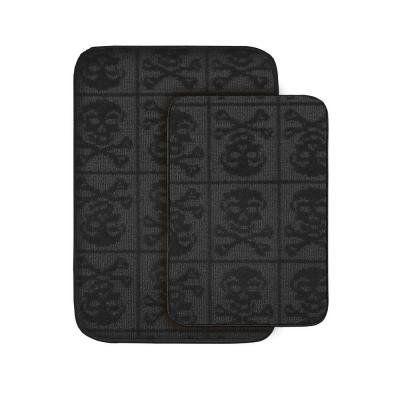 Amazon.com: Garland Rug SB-2PC-BLK Skulls Two Piece Bath Rug Set Black: Home & Kitchen