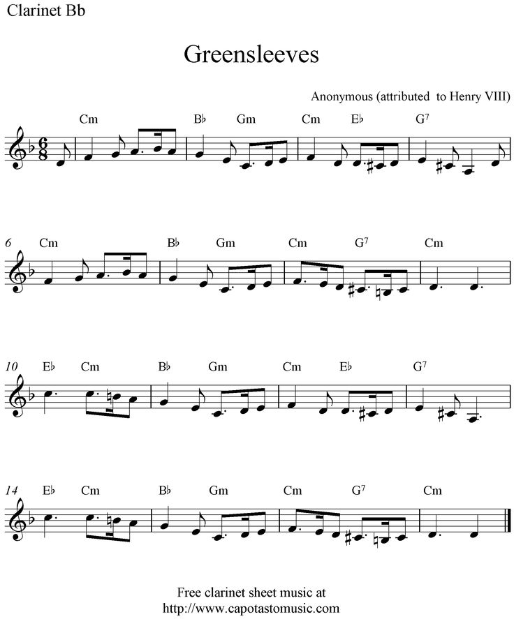 When The Saints Go Marching In Clarinet Sheet Music