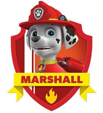 Divertido kit Paw Patrol o Patrulla Canina de Marshall para Imprimir Gratis.