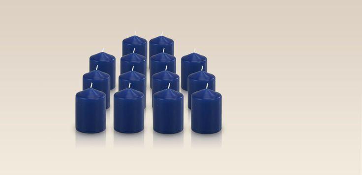Pack De 14 Bougies Votives Couleur Bleu Roi 5X7Cm - WeCandle