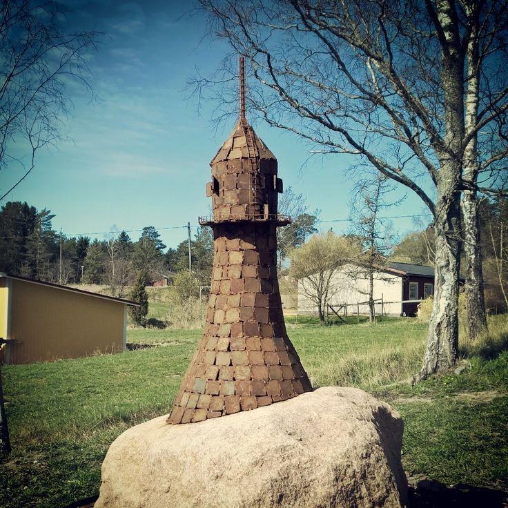 Fyr gjord av metallskrot  #sundbysvets
