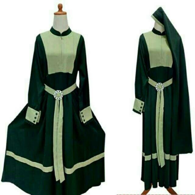 Saya menjual Stelan gamis cadar tali wolfis hijau model gesper jilbab ( niqob , niqab, ) seharga Rp250.000. Dapatkan produk ini hanya di Shopee! {{product_link}} #ShopeeID