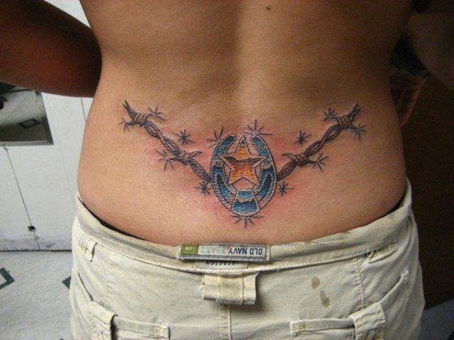 25 best ideas about barbed wire tattoos on pinterest for Blue horseshoe tattoo