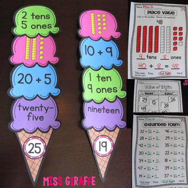 Place value activities & First Grade Math Ideas for the Entire Year!