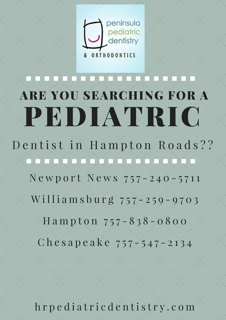 Relax because if you are searching for a new pediatric dentist, search no more.   Newport News 757-240-5711 Williamsburg 757-259-9703 Hampton 757-838-0800 Chesapeake 757-547-2134  Dr. Bobby Garofalis, Dr. Tammara Bell, Dr. Steve Bullock, Dr. Kari Cwiak, Dr. Richard Pugliese, and Dr. Darchelle Braxton