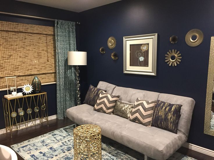 My renovated spare bedroom paint behr starless night for Spare bedroom paint color ideas