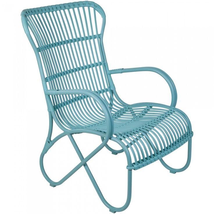 Portofino High Back Chair, Aqua