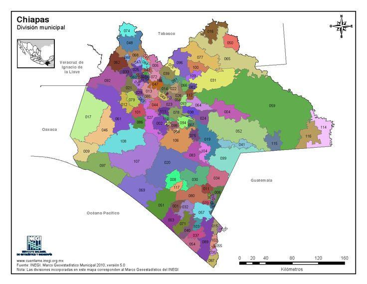Resultado de imagen para mapas con division politica de chiapas para colorear
