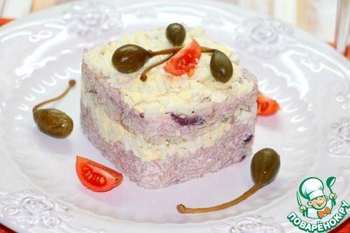 Рисовый салат с запеченной корюшкой - кулинарный рецепт
